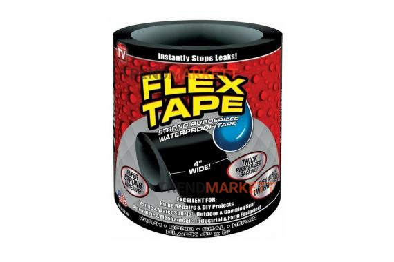 Сверхсильная клейкая лента «Flex Tape» черная