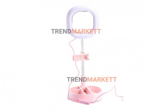 Кольцевая лампа-зеркало Y3 Pink