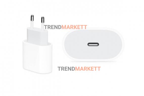 Сетевое зарядное устройство Адаптер Блок питания Apple PD 20W Type-C USB-C белое RU