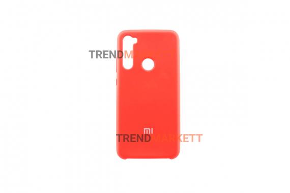 Силиконовый чехол Silicon cover для Redmi Note 8 красный