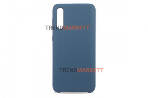 Чехол для Samsung A50 «Silicone Cover» синий