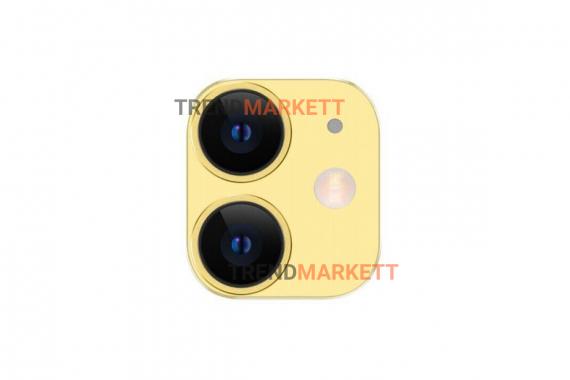 Защитное стекло на камеру iPhone 11 TOTU желтый