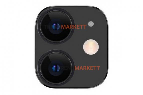 Защитное стекло на камеру iPhone 11 TOTU черный