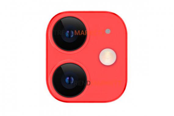 Защитное стекло на камеру iPhone 11 TOTU красный
