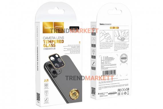 Защитное стекло на камеру для iPhone 11 Pro/Pro Max «Hoco» серебро