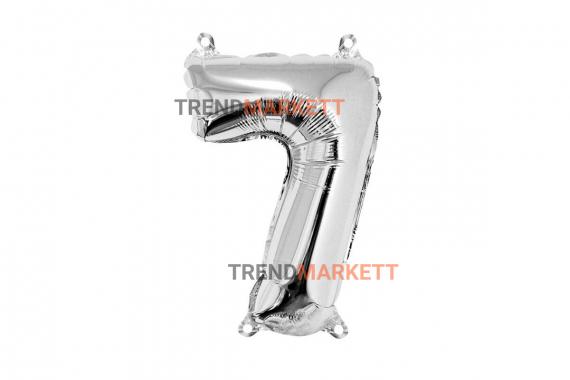Шар цифра «7» серебро