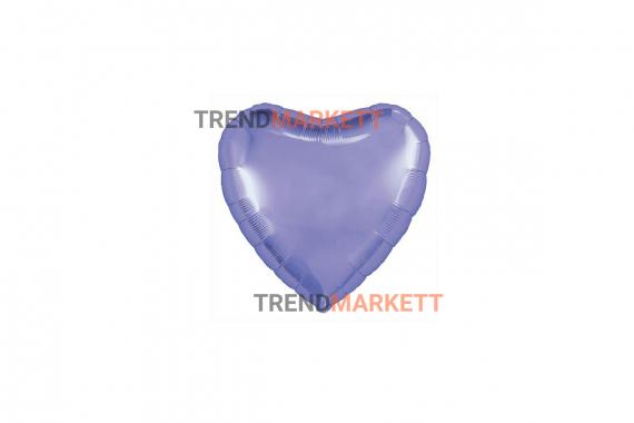 Шар «Сердце» пастельный фиолетовый