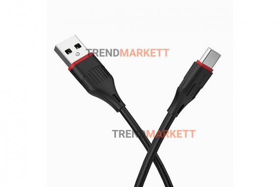Кабель USB - Type-C «Borofone BX17» 1 м., черный
