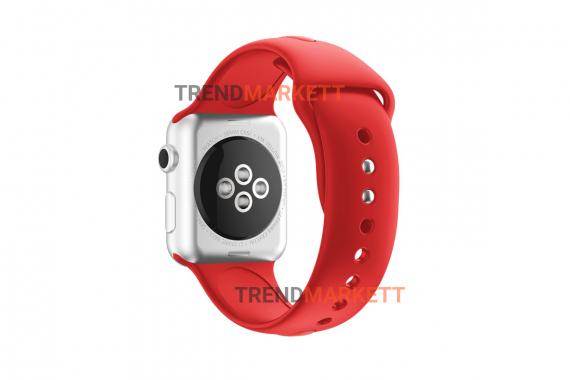 Ремешок для часов силиконовый красный Apple Watch 38/40 mm