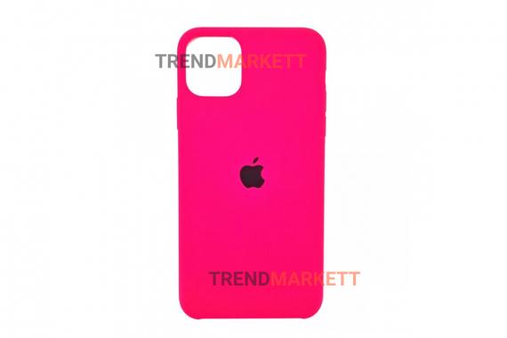 Силиконовый чехол (Silicon case) для iPhone 11 PRO MAX Фуксия