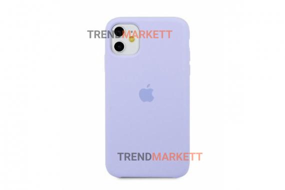 Силиконовый чехол (Silicon case) для iPhone 12 PRO MAX Лавандовый