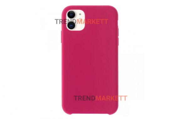 Силиконовый чехол (Silicon case) для iPhone 11 PRO MAX Малиновый