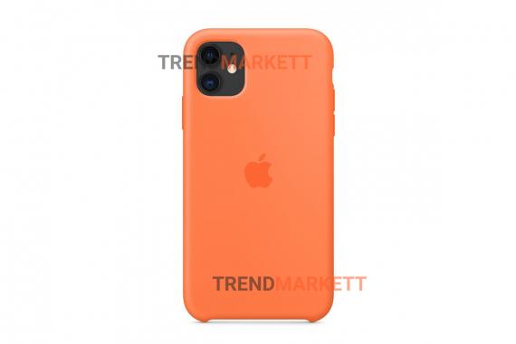 Силиконовый чехол (Silicon case) для iPhone 12/12 PRO Оранжевый