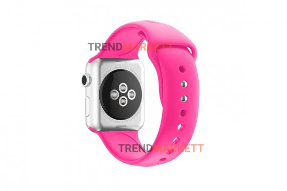 Ремешок для часов силиконовый розовый Apple Watch 42/44 mm