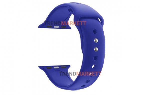 Ремешок для часов силиконовый синий Apple Watch 42/44 mm