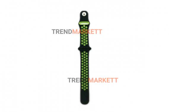 Ремешок для часов Apple Watch 38/40mm Sport Band черный/салатовый