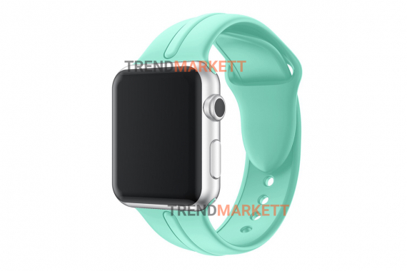 Ремешок для часов силиконовый мятный Apple Watch 38/40 mm