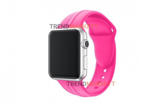 Ремешок для часов силиконовый розовый Apple Watch 38/40 mm