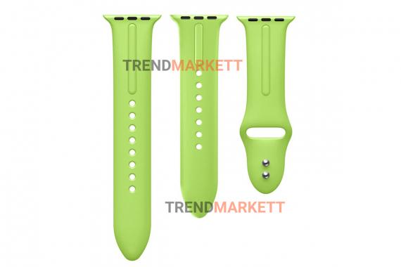 Ремешок для часов силиконовый салатовый Apple Watch 42/44 mm