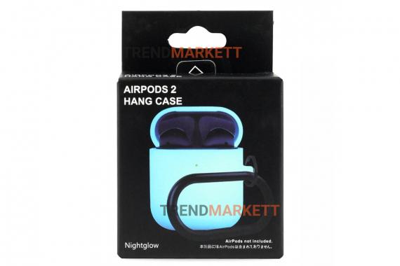 Чехол для AirPods 1/2 Smart Case с карабином Night Glow