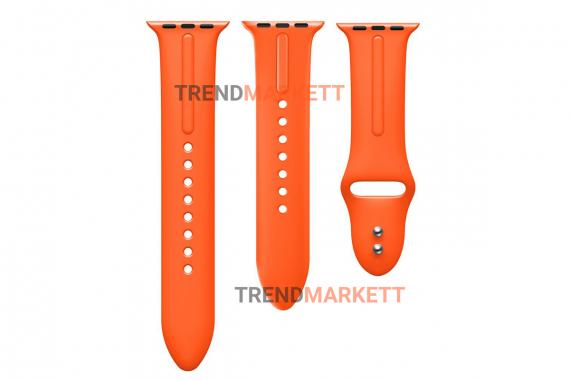 Ремешок для часов силиконовый оранжевый Apple Watch 38/40 mm