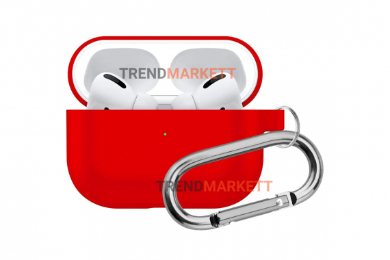 Чехол для AirPods Pro Smart Case с карабином Red