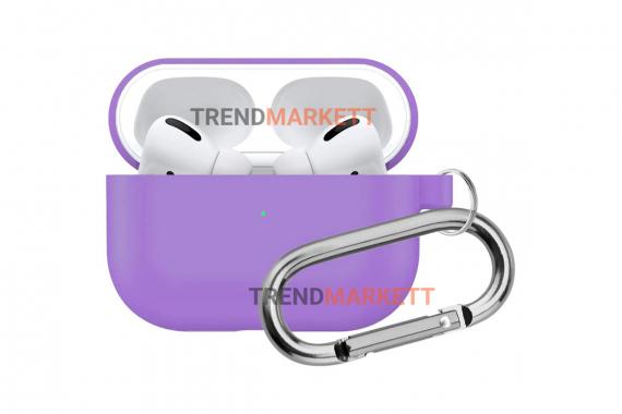 Чехол для AirPods Pro Smart Case с карабином Purple