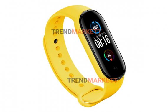 Ремешок для часов miBand5 силиконовый желтый