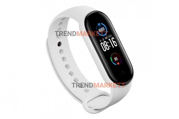 Ремешок для часов miBand5 силиконовый белый