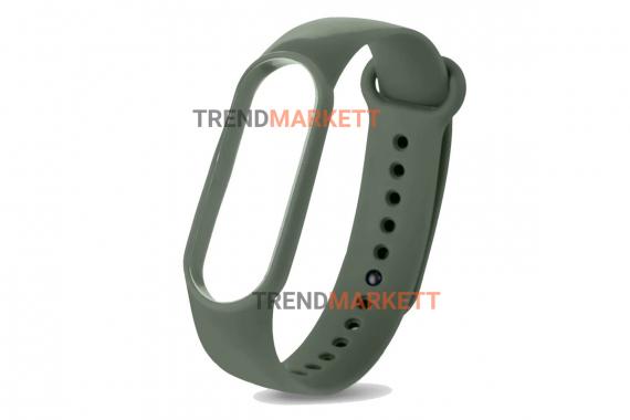 Ремешок для часов miBand 3/4 силиконовый хаки
