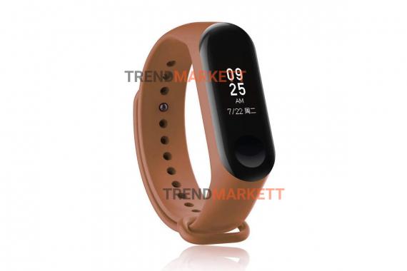 Ремешок для часов miBand 3/4 силиконовый коричневый