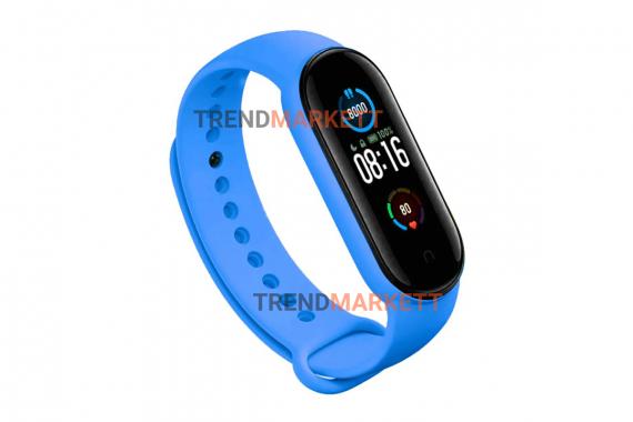Ремешок для часов miBand 3/4 силиконовый синий