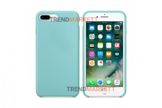 Силиконовый чехол (Silicon case) для iPhone 7 PLUS/8 PLUS Голубой