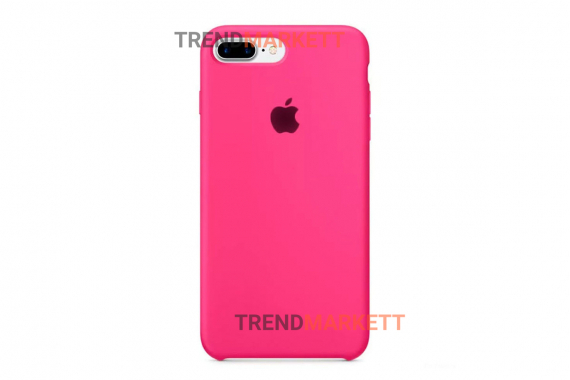 Силиконовый чехол (Silicon case) для iPhone 7 PLUS/8 PLUS Фуксия
