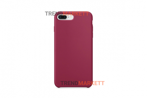 Силиконовый чехол (Silicon case) для iPhone 7 PLUS/8 PLUS Малиновый
