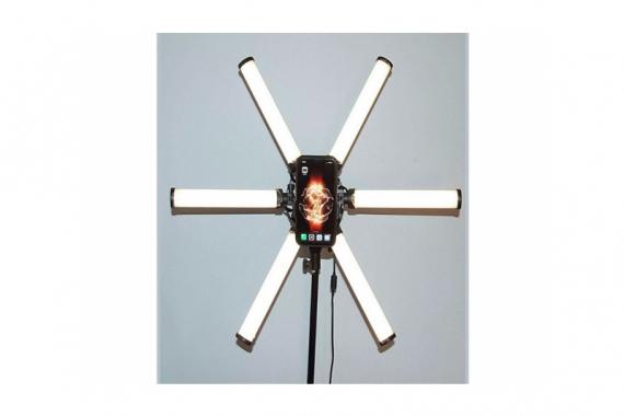 Селфи лампа звезда (6 лепестков) со штативом