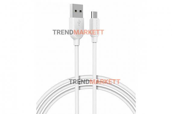 Кабель USB - Type-C «Borofone BX19 Benefit » 1 м., белый