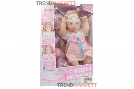 Кукла «Сладкая малышка» с розовым бантом
