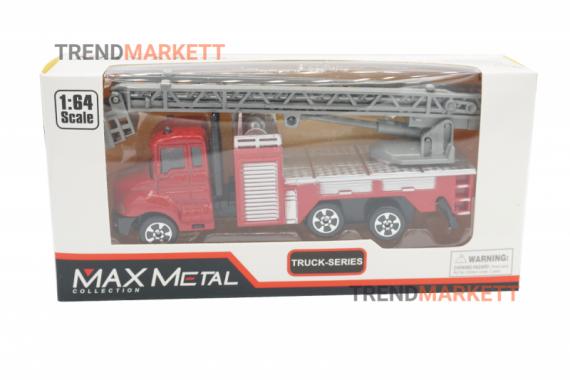 Металлическая грузовик «MAX METAL ПОЖАРНЫЙ КРАН»