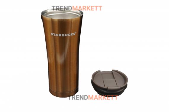 Термо-кружка «Starbucks» металлическая коричневая