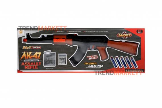 Автомат АК-47 с гидрогелевыми и мягкими пулями