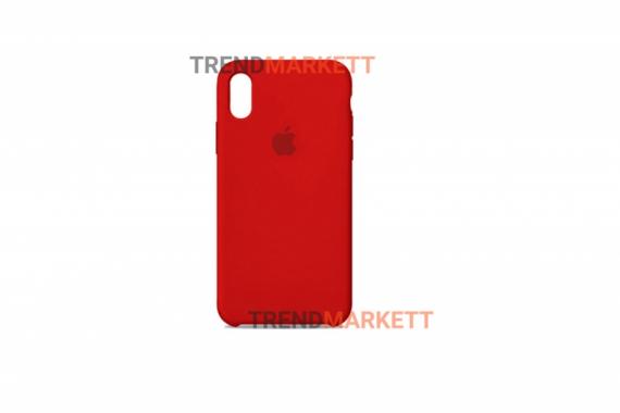 Силиконовый чехол (Silicon case) для iPhone X/XS Красный