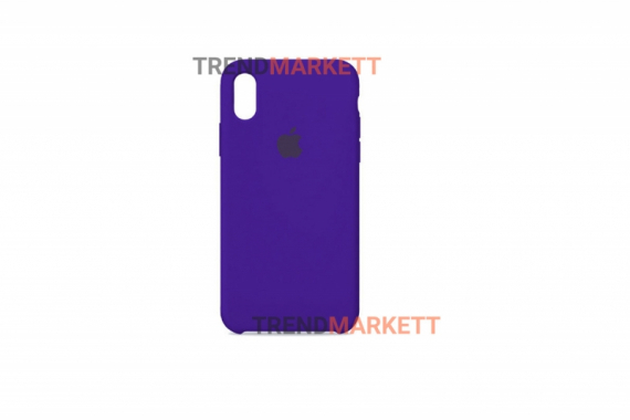 Силиконовый чехол (Silicon case) для iPhone X/XS Фиолетовый