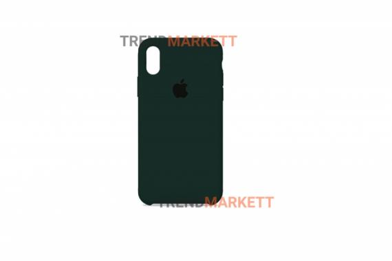 Силиконовый чехол (Silicon case) для iPhone X/XS Хаки