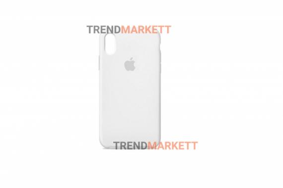 Силиконовый чехол (Silicon case) для iPhone XR Белый