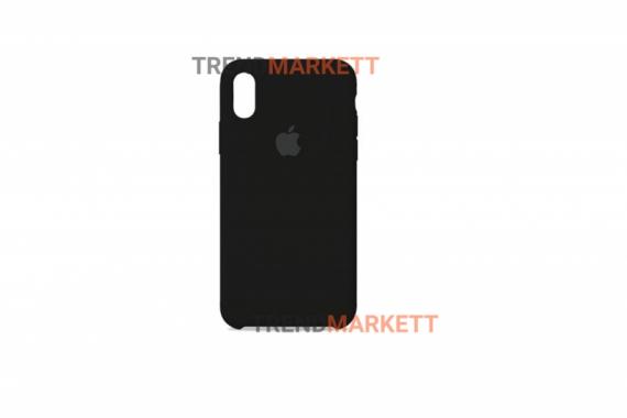 Силиконовый чехол (Silicon case) для iPhone X/XS Черный