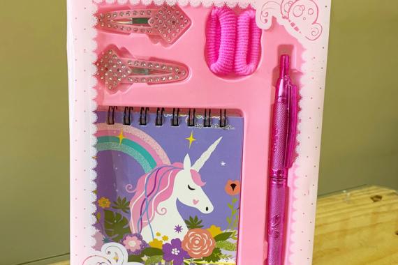 Блокнот с ручкой и заколками «PONY» малый