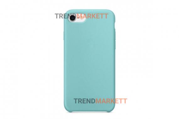 Силиконовый чехол (Silicon case) для iPhone 6/6S Голубой