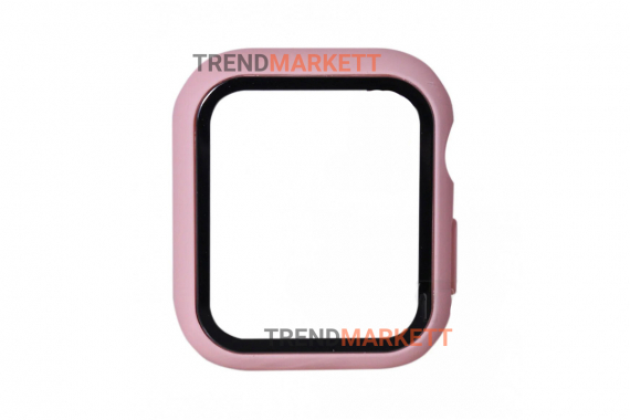 Стекло-чехол для Apple Watch 38 mm пудра