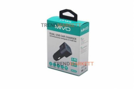 Автомобильное зарядное устройство 2USB «MIVO MU242»